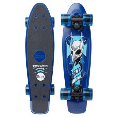 Complete 22inch Plastic Skateboard - Hawk Crest Blue