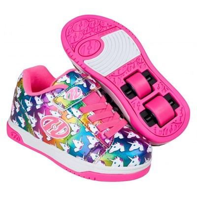 Dual Up Rainbow/Unicorn Kids Heely X2 Shoe