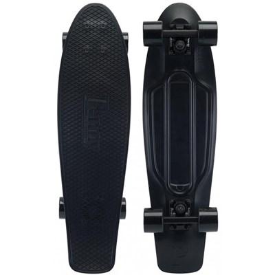 Complete Nickel 27inch Plastic Skateboard - Blackout 2.0