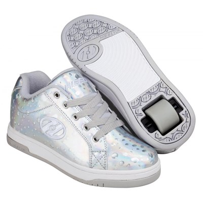 Split Silver Hologram/Water Drop Kids Heely Shoe
