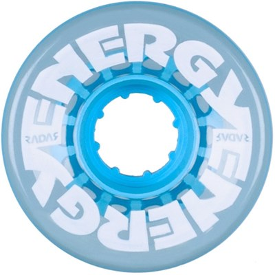 Energy 57mm 78a Roller Skate Wheels - Clear Blue