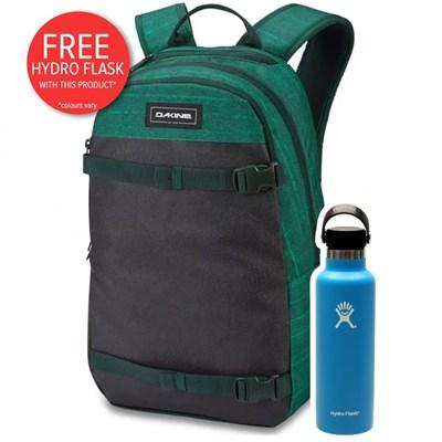 URBN Mission 22L Backpack - Greenlake  + FREE DAKINE HYDRO FLASK