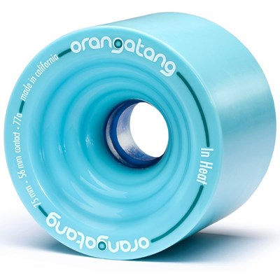 In Heat Longboard Wheels - Blue