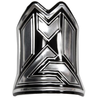MG Alloy Headtube  Logo Badge - Silver