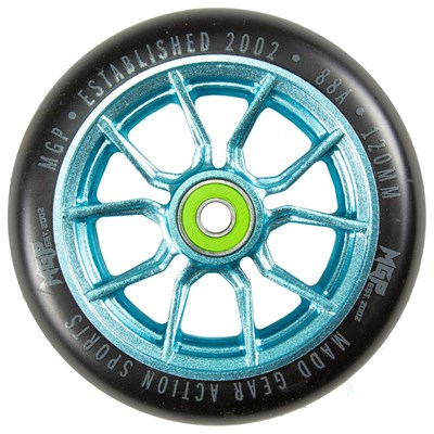 MFX Syndicate AR120 Scooter Wheels (Pair) - Teal/Black