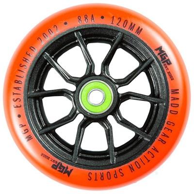 MFX Syndicate AR120 Scooter Wheels (Pair) - Black/Orange
