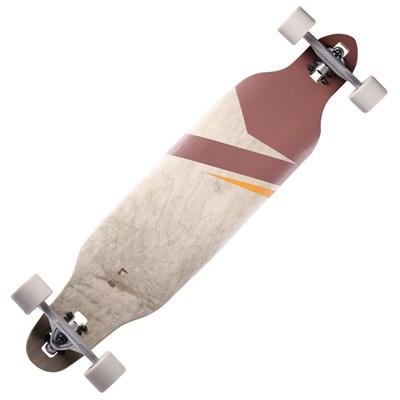 Lokz Drop through Complete Longboard - Chestnut