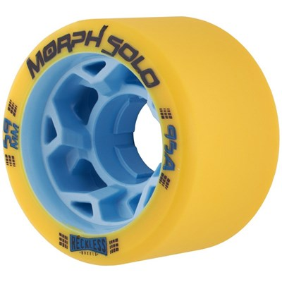 Morph Solo 59mm 95A Roller Derby Skate Wheels - Yellow