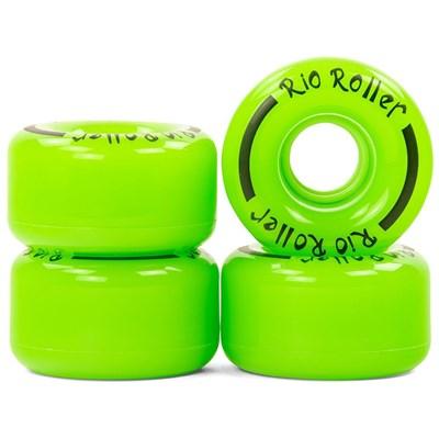 Coaster Stripe Quad Roller Skate Wheels - Green