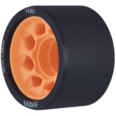 Halo 59mm/86a Roller Derby Skate Wheels - Charcoal/Orange