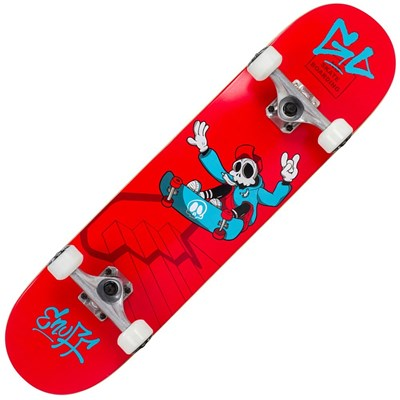 Skully Red 7.75inch Complete Skateboard