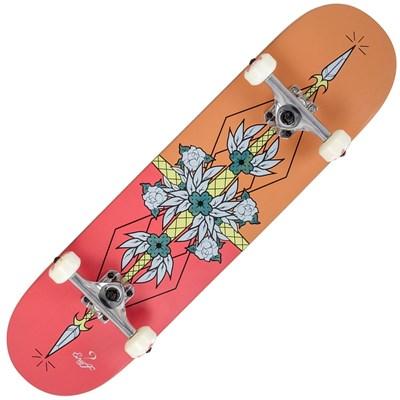 Flash Red/Orange 8inch Complete Skateboard