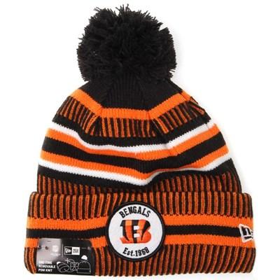 NFL Sideline Bobble Knit 2019 Home Game Beanie - Cincinnati Bengals