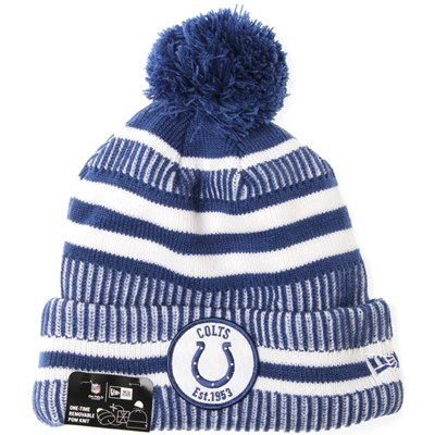 NFL Sideline Bobble Knit 2019 Home Game Beanie - Indianapolis Colts