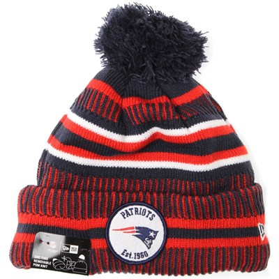 NFL Sideline Bobble Knit 2019 Home Game Beanie - New England Patriots