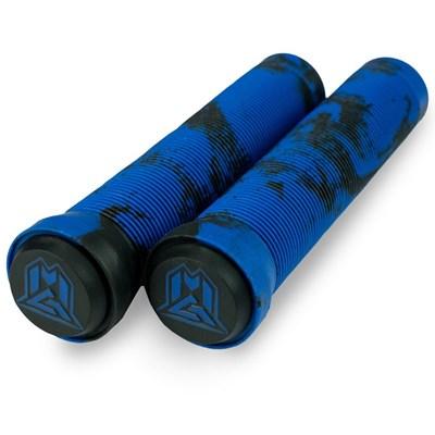 MGP Swirls Grind Handlebar Grips With Bar Ends - Black/Blue