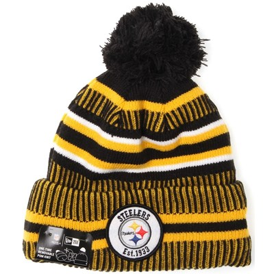 NFL Sideline Bobble Knit 2019 Home Game Beanie - Pittsburgh Steelers