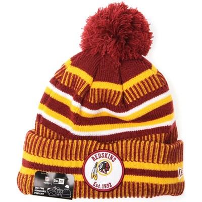 NFL Sideline Bobble Knit 2019 Home Game Beanie - Washington Redskins