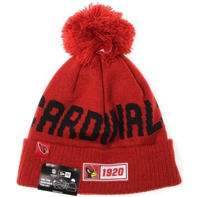 NFL Sideline Bobble Knit 2019 Road Game Beanie - Arizona Cardinals