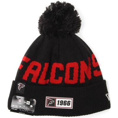 NFL Sideline Bobble Knit 2019 Road Game Beanie - Atlanta Falcons