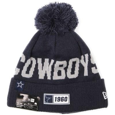 NFL Sideline Bobble Knit 2019 Road Game Beanie - Dallas Cowboys