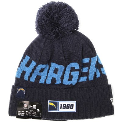 NFL Sideline Bobble Knit 2019 Road Game Beanie - Los Angeles Chargers