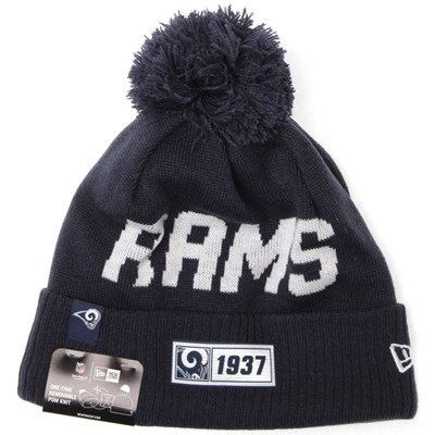 NFL Sideline Bobble Knit 2019 Road Game Beanie - Los Angeles Rams