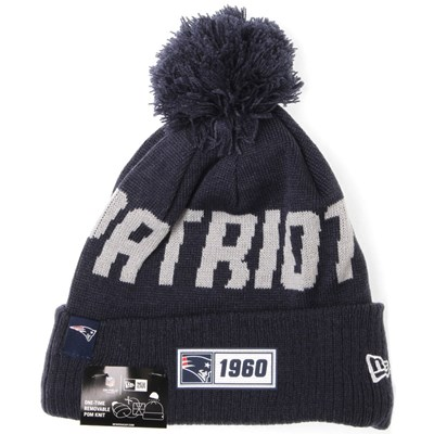 NFL Sideline Bobble Knit 2019 Road Game Beanie - New England Patriots