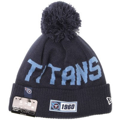 NFL Sideline Bobble Knit 2019 Road Game Beanie - Tennessee Titans