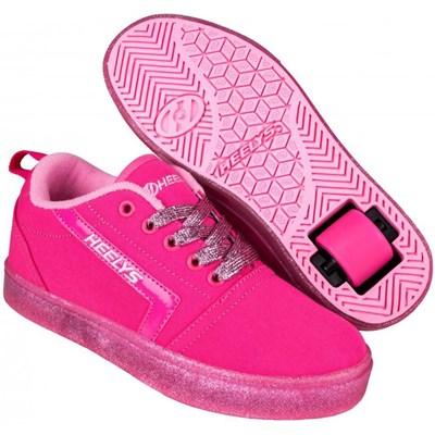GR8 Pro Hot Pink/Light Pink/Glitter Kids Heely Shoe