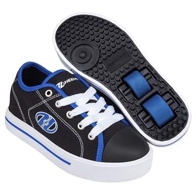 Classic Black/White/Blue Kids HX2 Heely Shoe