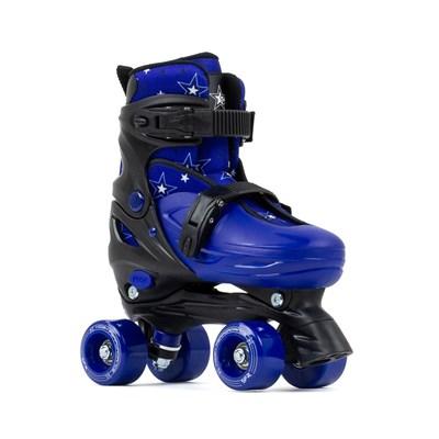 Nebula Black/Blue Adjustable Kids Quad Roller Skates