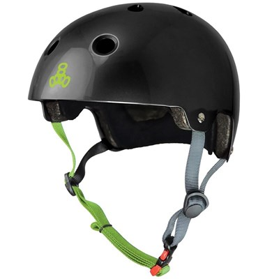 Dual Certified (FKA Brainsaver) Helmet - Black Gloss/Zest
