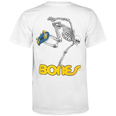 Skateboard Skeleton S/S T-Shirt - White