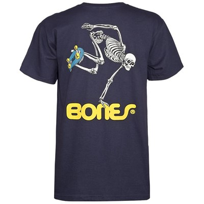 Skateboard Skeleton S/S T-Shirt - Navy