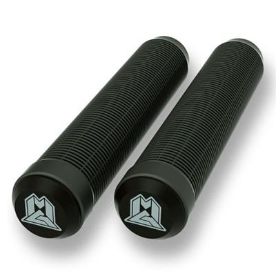 MGP Swirls Grind 180mm Handlebar Grips With Bar Ends - Black/Black