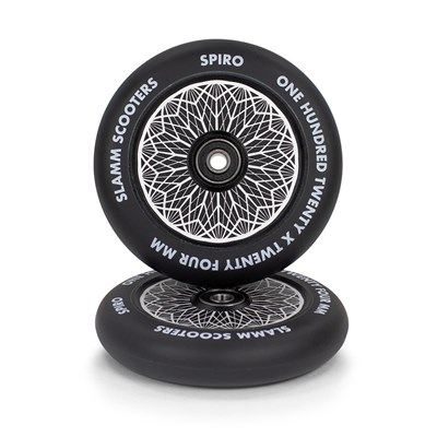 Spiro Hollow Core Scooter Wheel and Bearings - Black