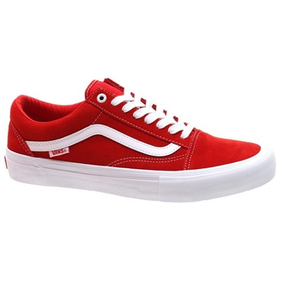 Vans Old Skool Pro (Suede) Red/White Shoe
