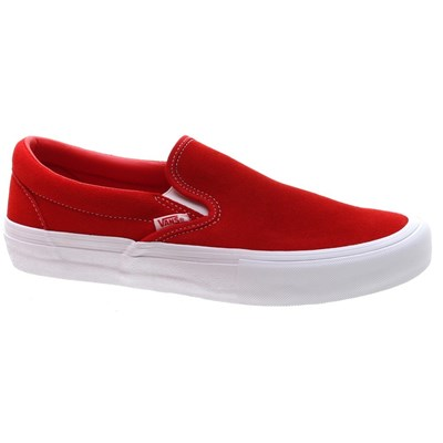 Vans Slip On Pro (Suede) Red/White Shoe