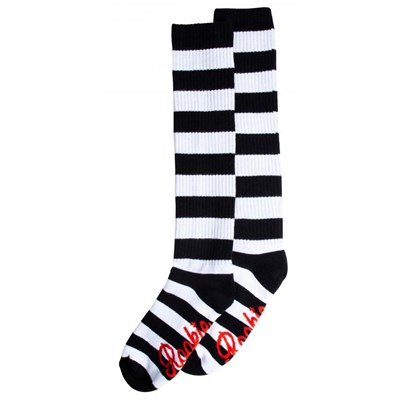 20'' Knee High Socks - Black/White