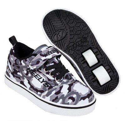 Pro 20 X2 Black/White/Camo Kids Heely X2 Shoe