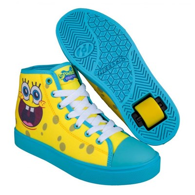 Hustle SpongeBob Light Yellow/Deep Aqua/ Seaweed Heely Shoe