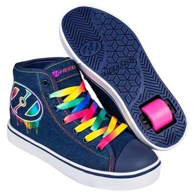 Veloz Denim/Rainbow/Drip Kids Heely Shoe