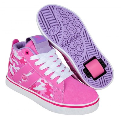 Racer Mid 20 Pink/Hot Pink/White Camo Kids Heely Shoe