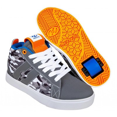 Racer Mid 20 Grey/White/Black Camo Kids Heely Shoe