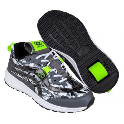 Nitro Charcoal/Black Camo/Yellow Kids Heely Shoe