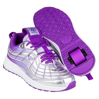 Nitro Silver/Violet Kids Heely Shoe