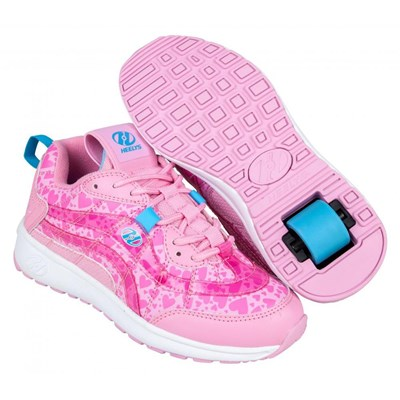 Nitro Light Pink/Pink Hearts Kids Heely Shoe