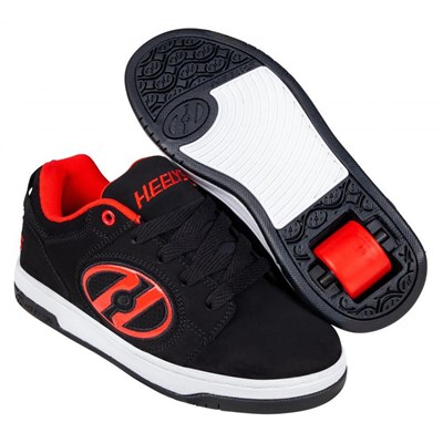 Voyager Black/Red Nubuck Adult Heely Shoe
