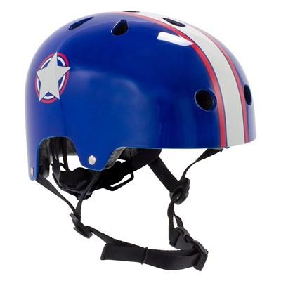 Adjustable Kids Helmet - Blue/Silver
